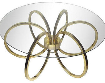 Mid-Century Brass Ring Table