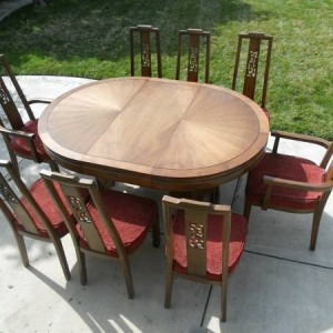 Mid Century Asian Inspired Dining Set