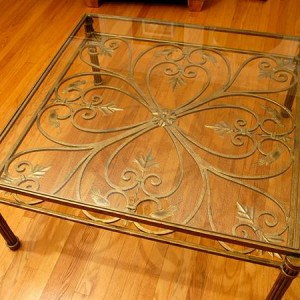Drexel Heritage Bird/Leaf Motif Coffee Table