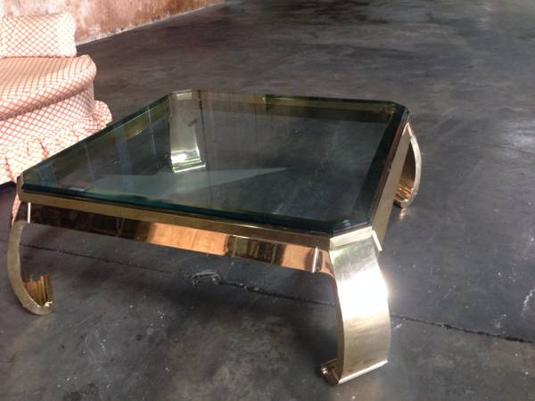 Karl Springer Brass Asian Inspired Coffee Table