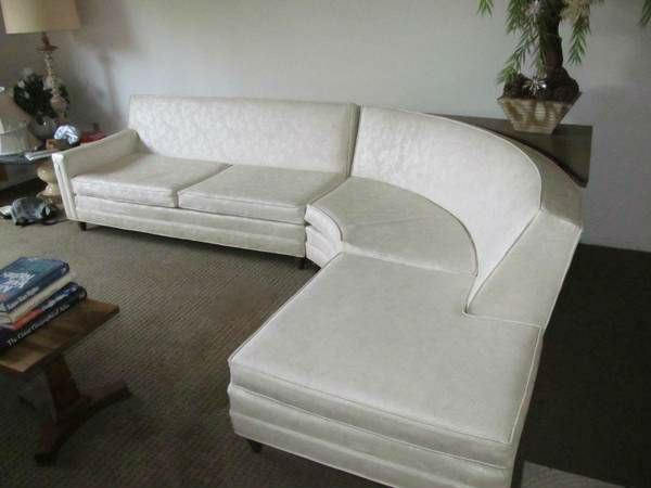 Miraculous Vintage Mid Century Modern Curved Sectional Sofa Bralicious Painted Fabric Chair Ideas Braliciousco