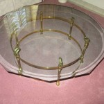 La Barge Brass Swan Table