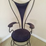 mid-century atomic iron chair