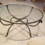 Maison Jansen Rams Head Steel and Brass Coffee Table