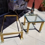Mastercraft Asian Inspired Solid Brass Coffee Table and Side Table