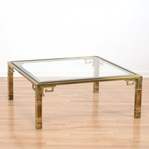 Mastercraft Greek Key Brass Coffee Table