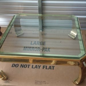 Karl Springer Asian Inspired Brass Coffee Table