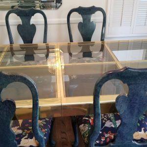 Mastercraft Brass Dining Table